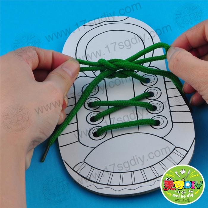 穿教具穿鞋板(战地装)单个收集玩手工幼儿园鞋带1操作说明益智图片