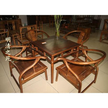 仿古实木家具 中式老榆木方餐桌 书桌 田园茶艺桌
