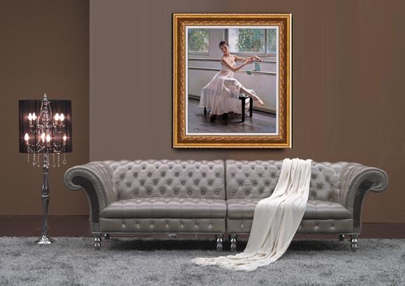 纯手绘油画高档人物画 芭蕾舞女 客厅 舞蹈室 卧室装饰画 肖像油画