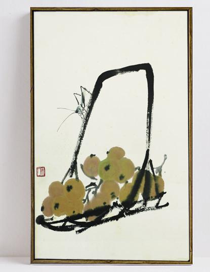 【静物】纯手绘油画新中式玄关