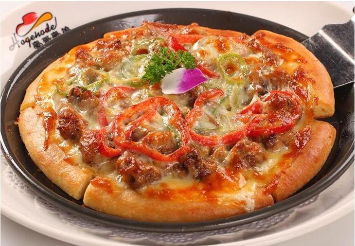 大型简笔画披萨
