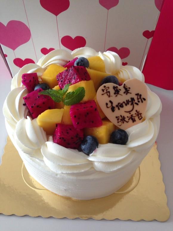 水果鲜奶蛋糕 - 黑方 手作图片