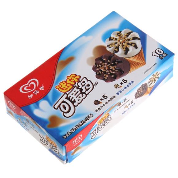 和路雪迷你可爱多香草巧克力味冰淇淋10只装
