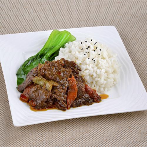 黑椒牛肉盖浇饭(辣)