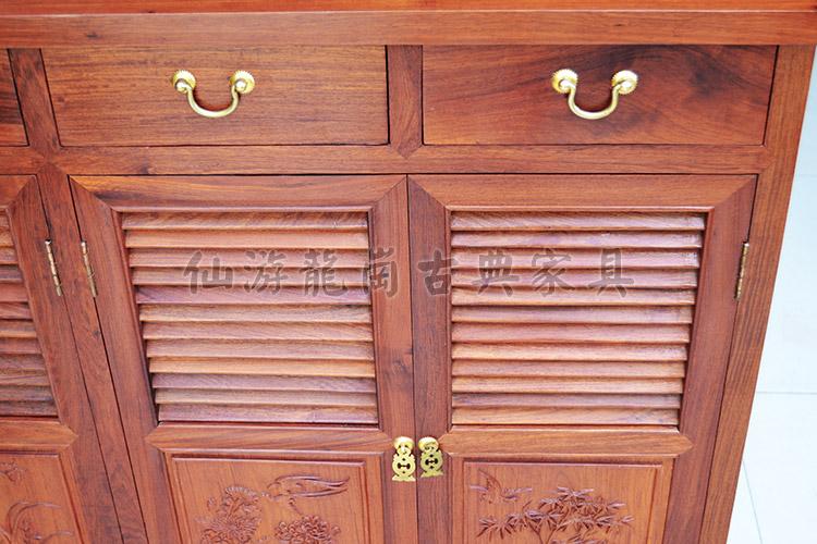 缅甸花梨木鞋柜