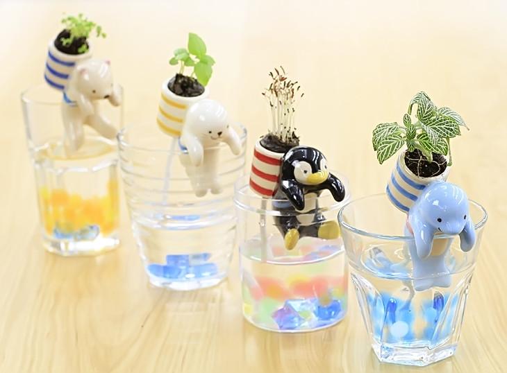 可爱极地杯客小动物植物盆栽 不含杯子