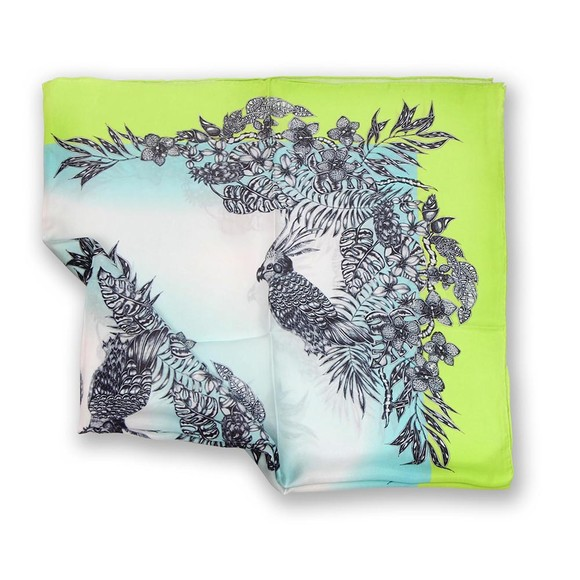 原创手绘丝巾 之鸟语花香(特价优惠)