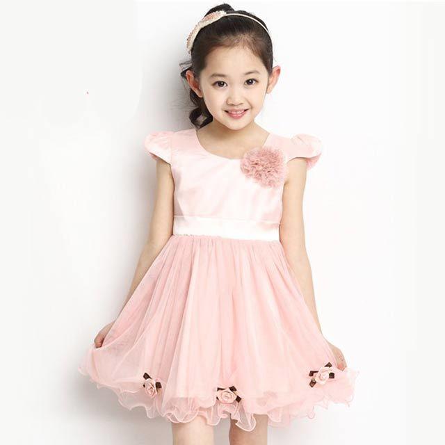 漂亮妞童装儿童夏装公主裙大女童短袖连衣裙10岁小女孩婚纱裙白色演出图片