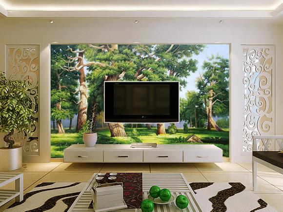 油画em-5434 壁画 客厅沙发电视背景墙图片