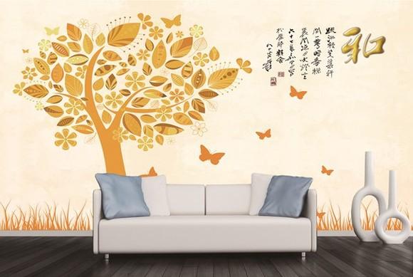 简约风格 j-041 壁画 客厅沙发电视背景墙图片
