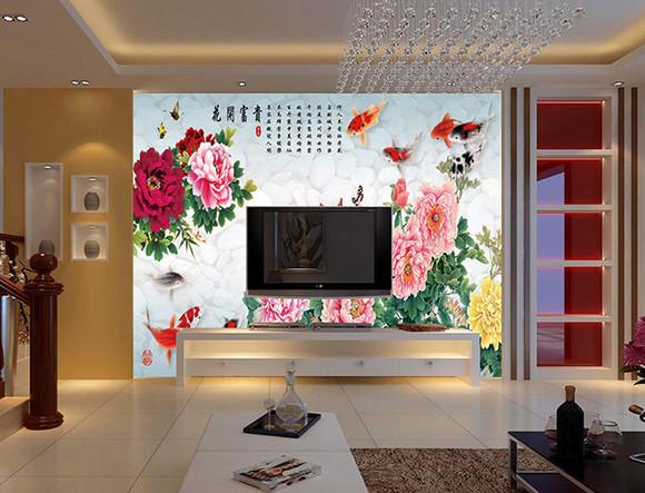 中国风 s-8159 壁画 客厅沙发电视背景墙