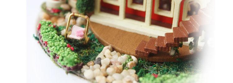 diy小屋潘多拉魔法花园玻璃球 手工房子拼装模型 生日