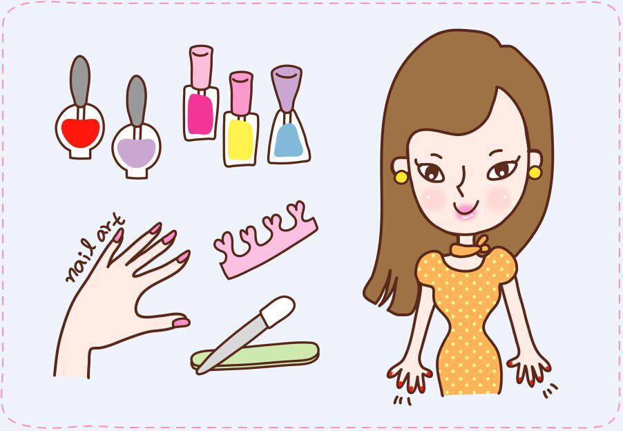 美妆店卡通图片