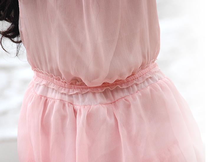 2015夏季新款童装连衣裙 女童多层蛋糕长裙 女孩度假背心沙滩裙子
