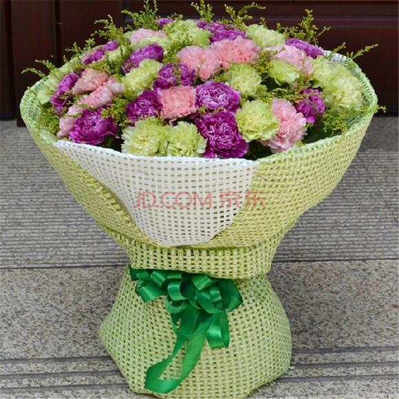 母亲节拼色康乃馨花束