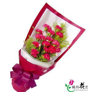母亲节竖形康乃馨花束