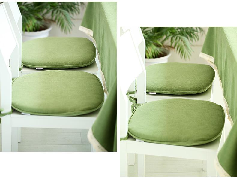 欧式绿色沙发垫子