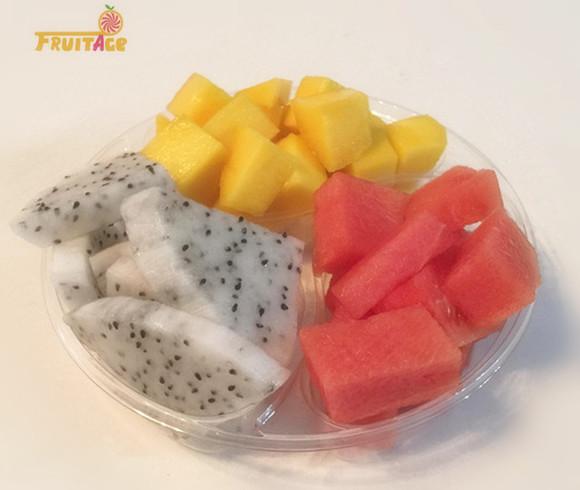 水果大时代拼盘(西瓜,芒果,火龙果)图片