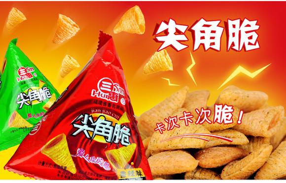 三角塔香辣薯片休闲小吃儿童小零食品
