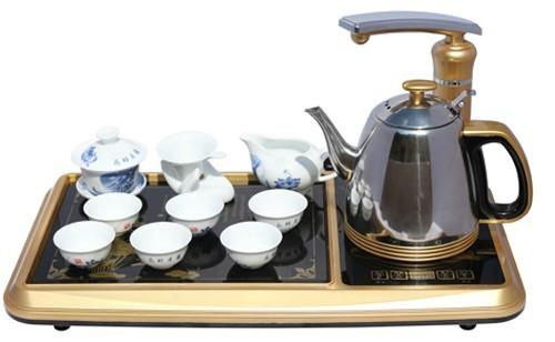 电热水壶陶瓷电茶壶自动断电烧水泡茶功夫茶具套装