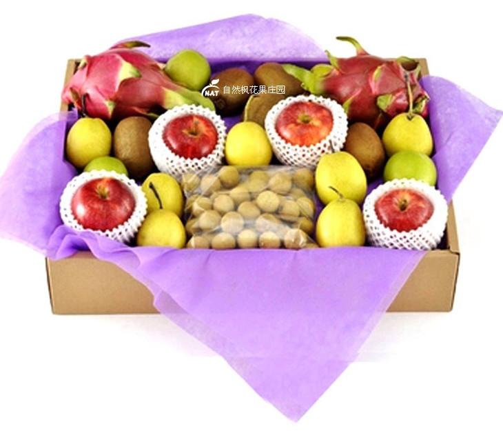 【自然枫花果庄园】水果礼盒按时令水果搭配而成 100元每盒起图片
