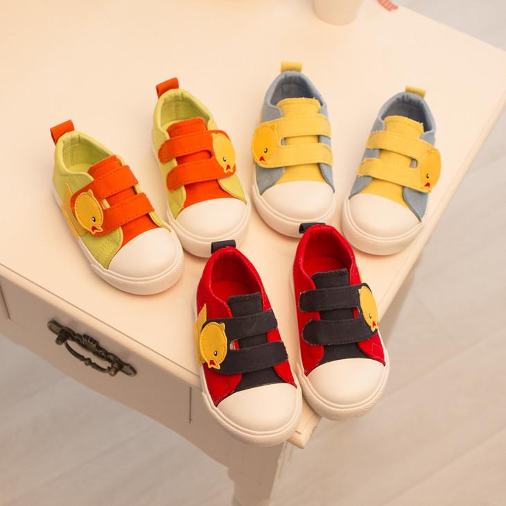 爆款可爱小黄鸭帆布童鞋