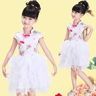 儿童唐装 儿童旗袍 复古连衣裙中国风礼服旗袍 公主蓬蓬裙(10#)