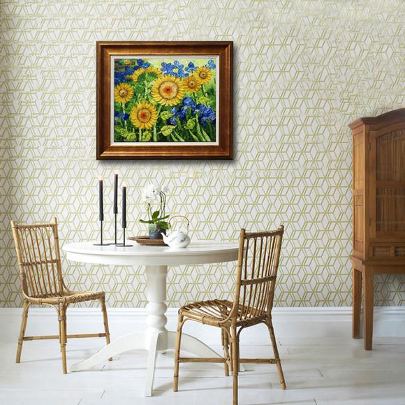 100%纯手绘油画 花卉 客厅装饰画
