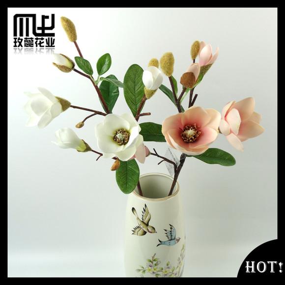 绢布中玉兰花