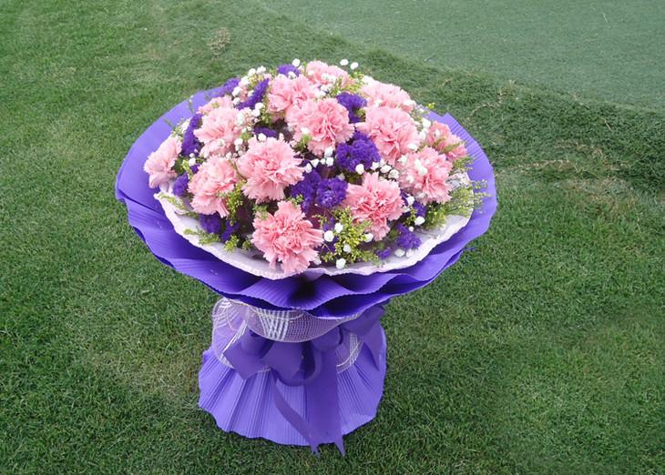 母亲节康乃馨9支花束