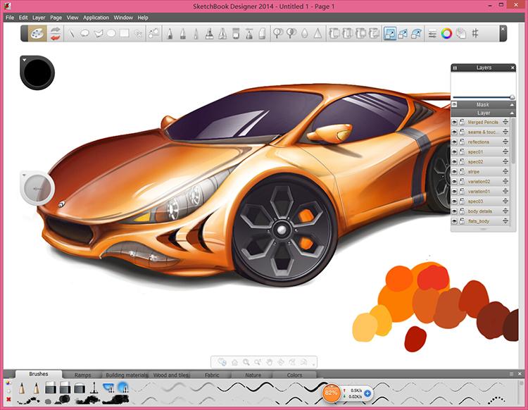 sketchbook汽车概念草图设计视频教程(sketchbook视频