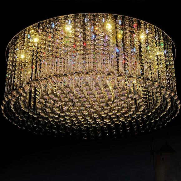 简约现代欧式酒店客厅书房卧室餐厅会议吸顶led水晶