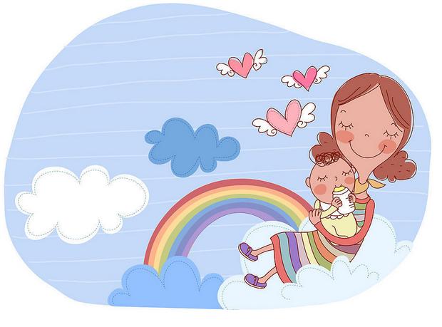 在母亲的呵护下我们茁壮成长