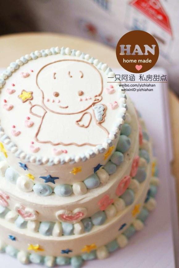 周岁宝宝宴萌萌哒生日蛋糕不萌我吃下去!