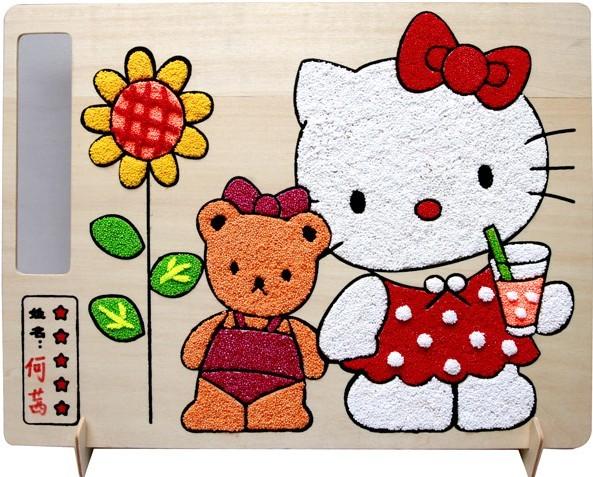 儿童木质双面填色木板画带支架 涂鸦金粉画彩泥画雪花