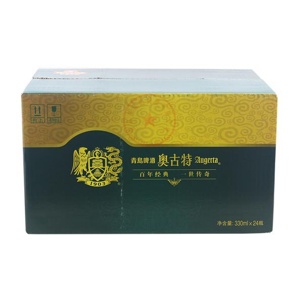 青岛啤酒 奥古特 1903 330ml*24/箱 (玻璃瓶,每个瓶盖