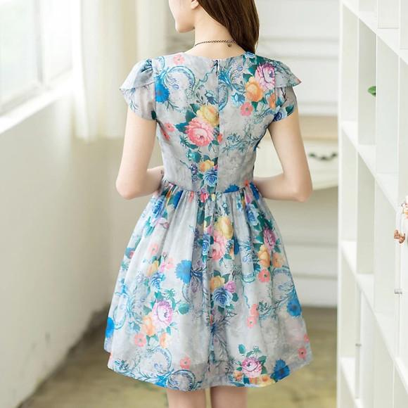 彩色手绘职业女裙