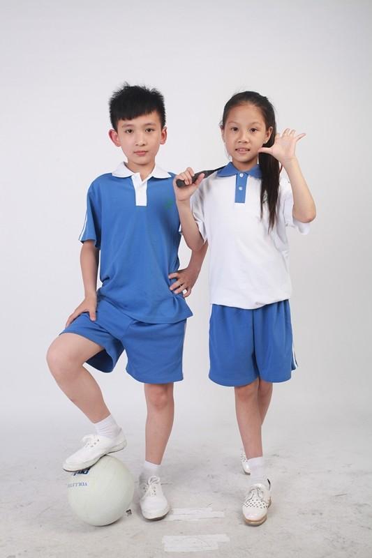 深圳市小学生夏季运动服图片