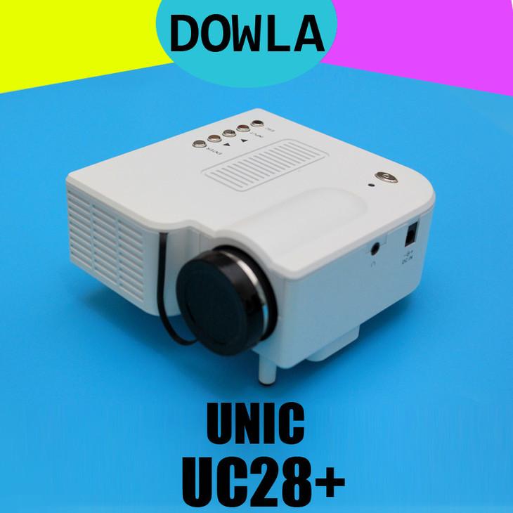 优丽可uc28+迷你投影机高清1080p微型led投影仪适用