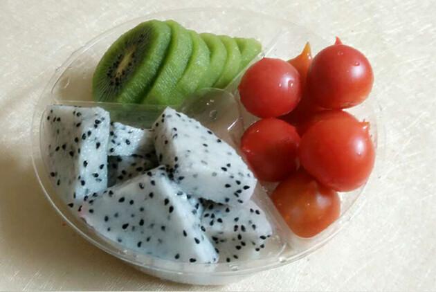 现切鲜果切(西瓜 火龙果 菠萝)3合1水果拼盘图片