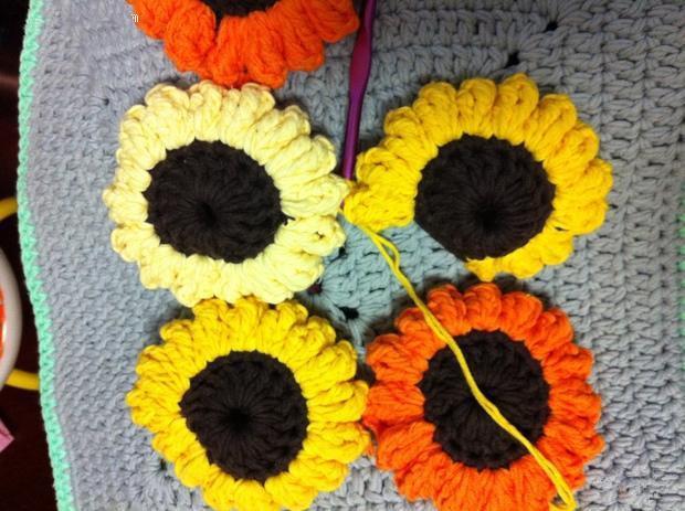 钩织生活:向日葵坐垫