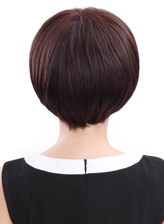 西芙假发女短发蓬松bobo头蘑菇头发型 中年女式假发卷发真发图片