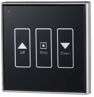 315m智能家居单轨无线遥控电动窗帘开关面板触摸屏