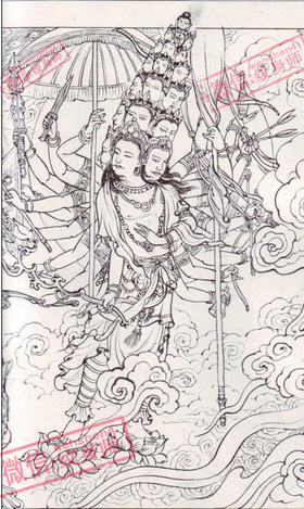 西游记师徒四人纹身手稿分享展示