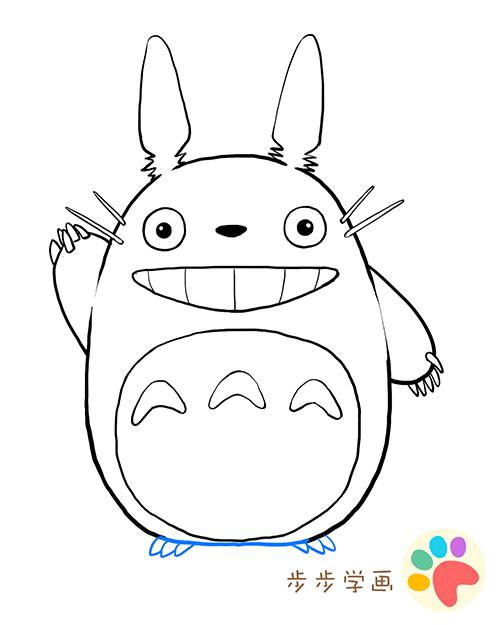 龙猫手绘图片大全可爱