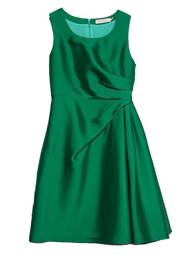 x型收腰连衣裙