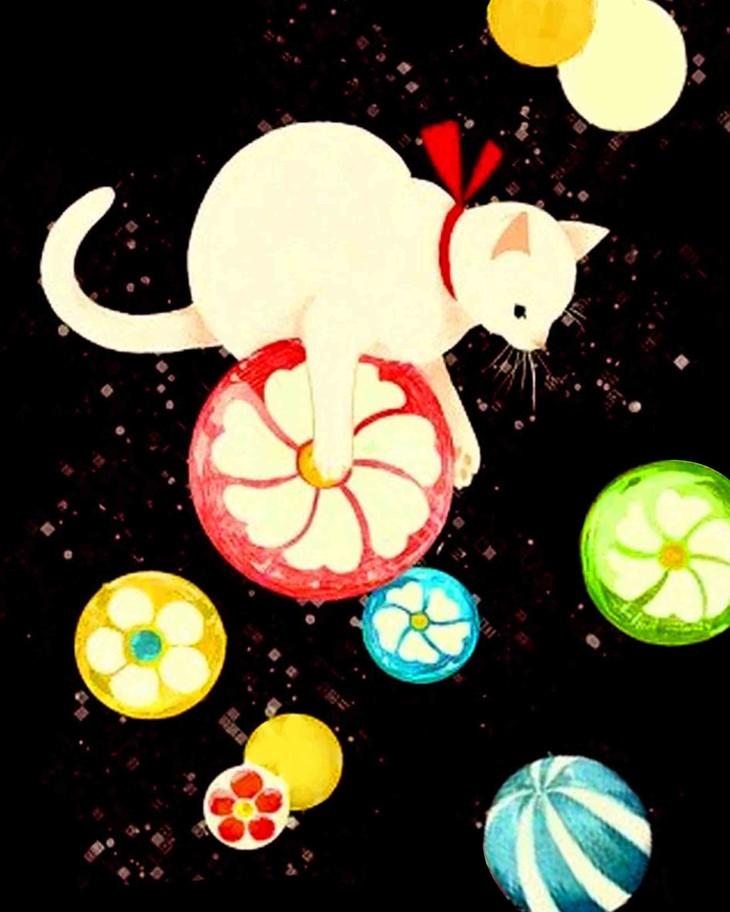 可爱的猫咪~招财招桃花~colornite成人零基础绘画