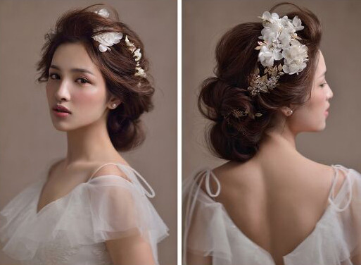 新娘发型图片教学分享展示