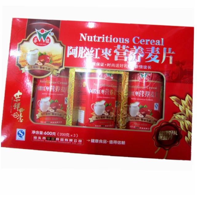 华旺阿胶红枣营养麦片600g图片