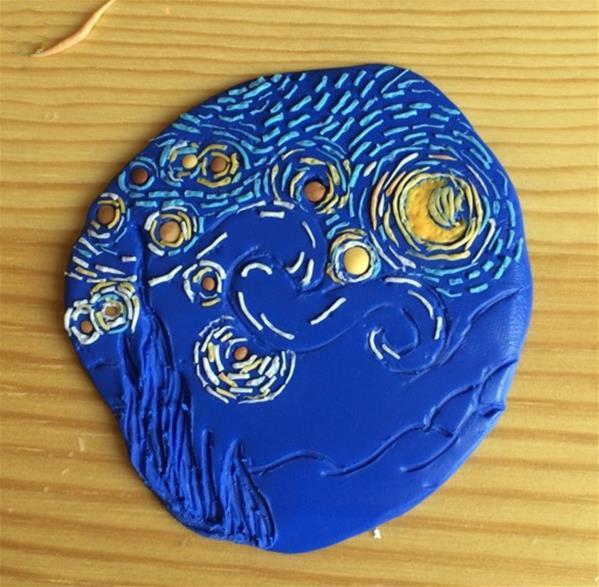 粘土艺术:梵高的星空